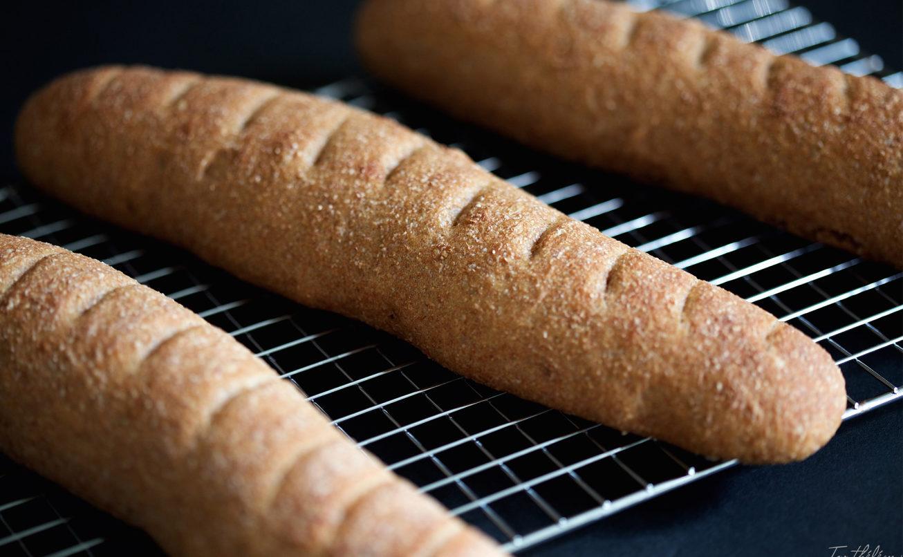 pan integral con masa madre