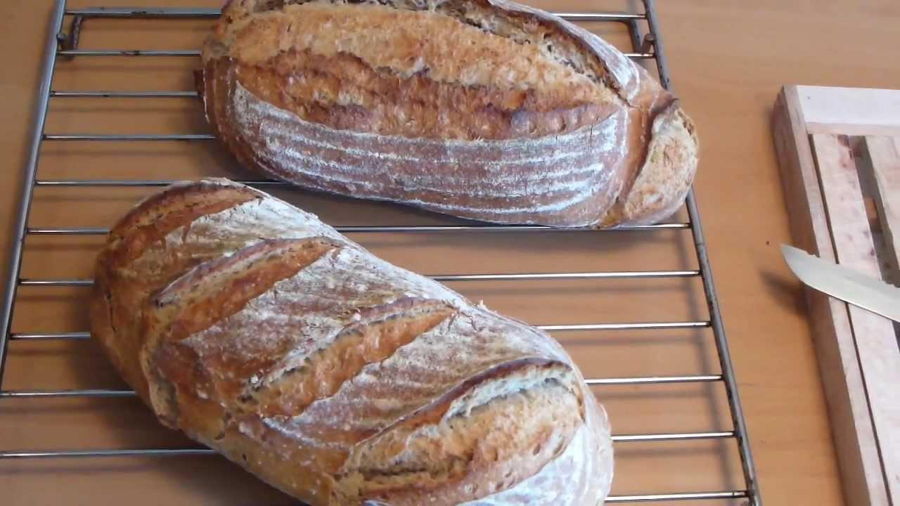 receta basica de pan con masa madre