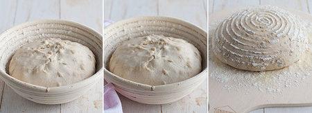 receta pan con masa madre