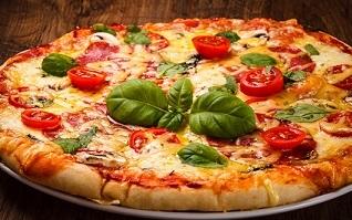 pizza con masa madre liquida