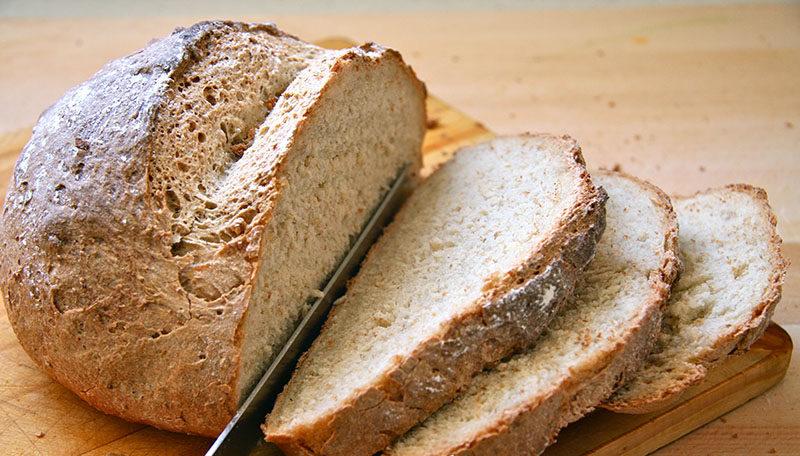 pan integral casero con masa madre