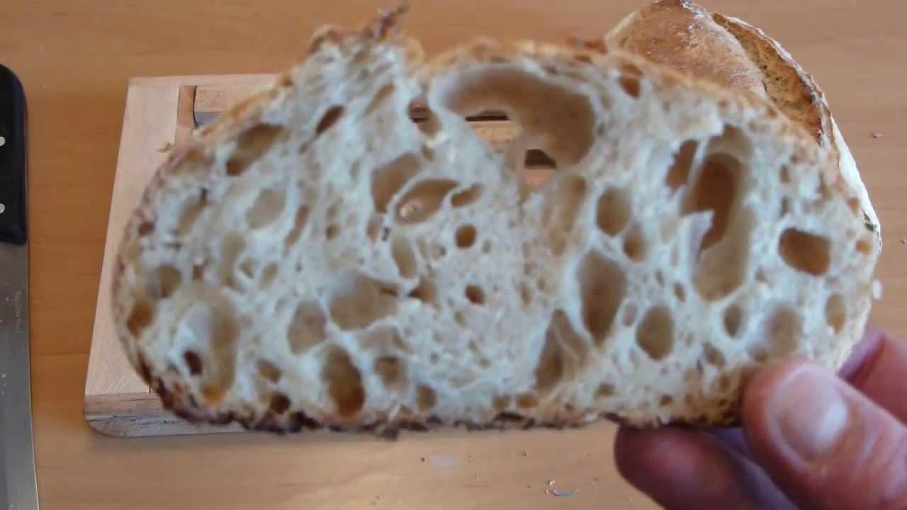 receta pan casero con masa madre